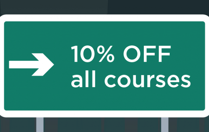 10% off all courses
