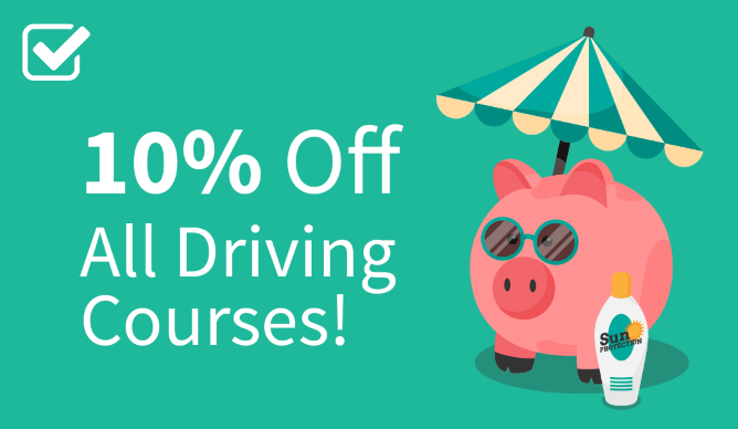10% off all driving courses