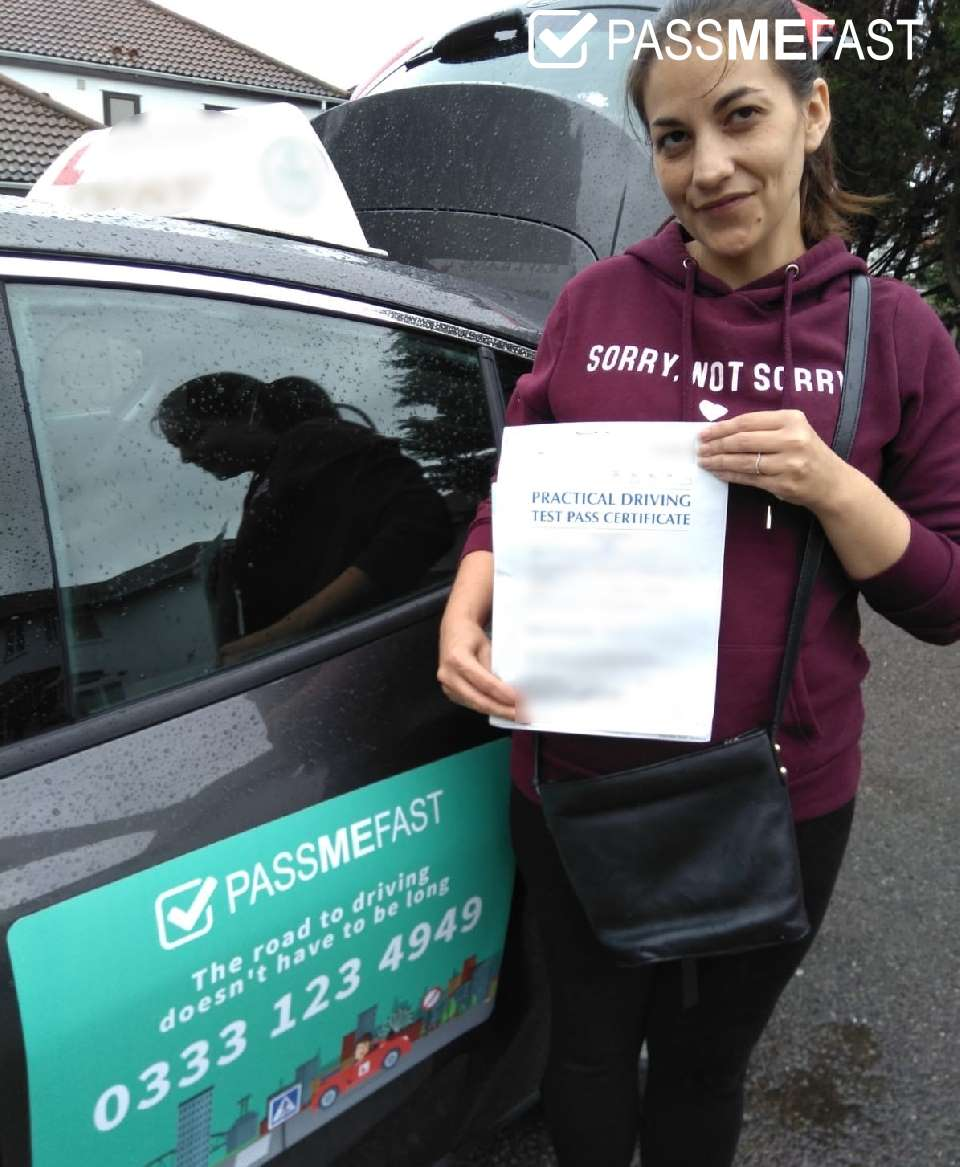 Pass photo of PassMeFast student Amy