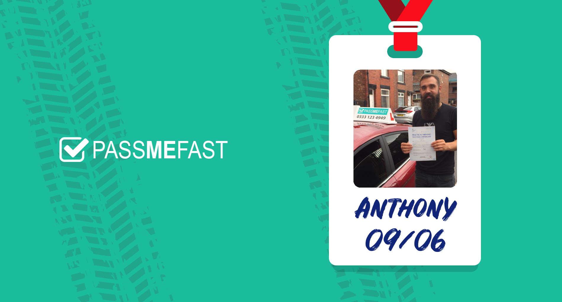 Pass photo of PassMeFast student Anthony