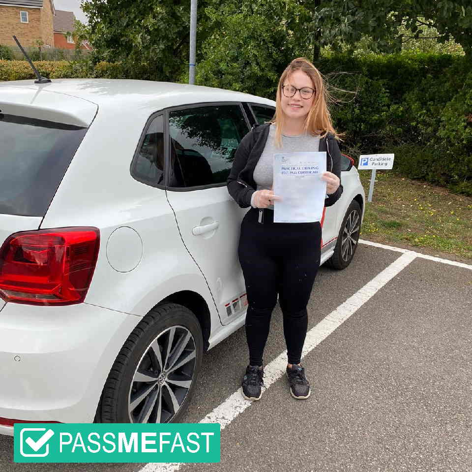 Pass photo of PassMeFast student Bethany