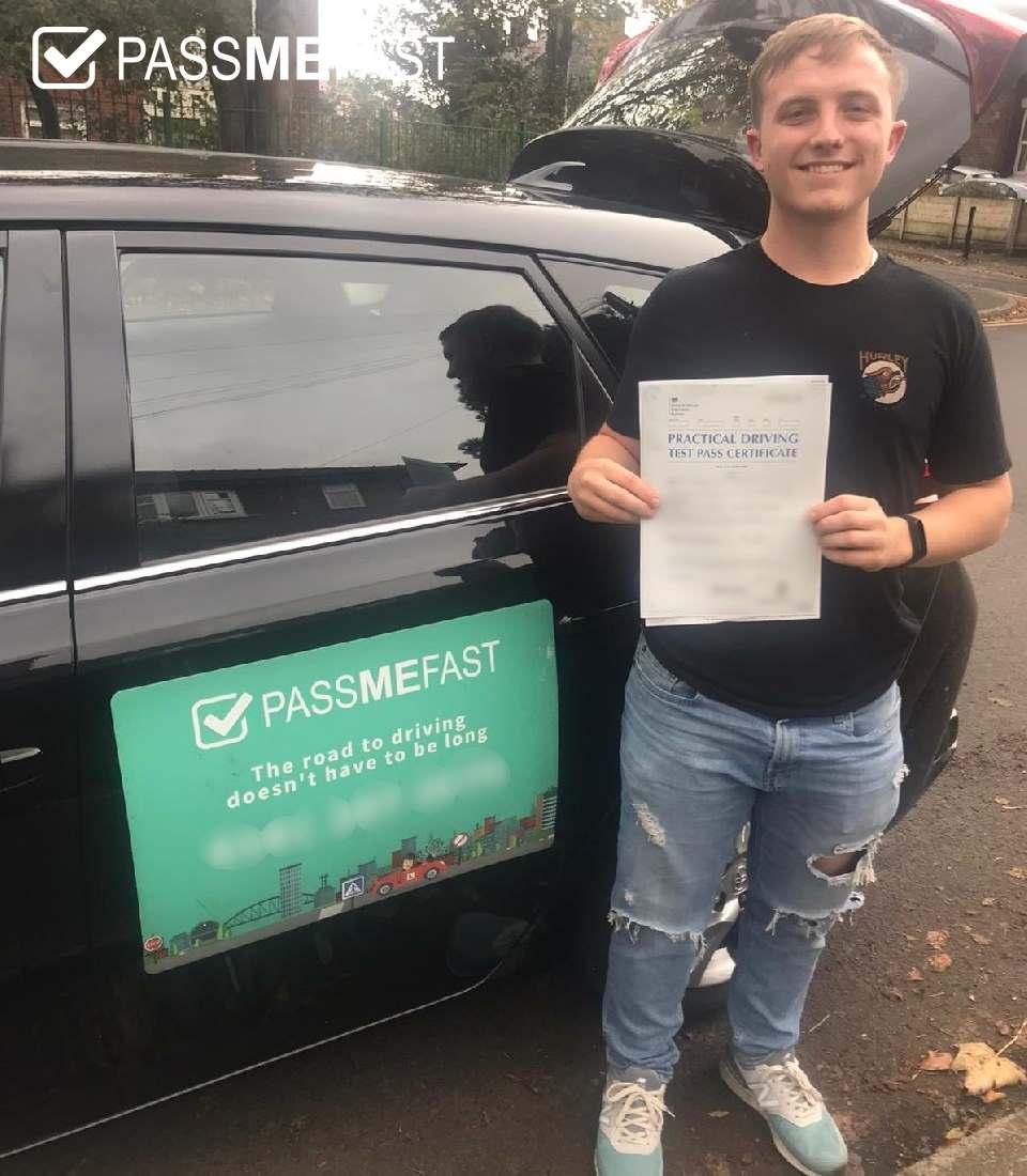Pass photo of PAssMeFast student Bradley