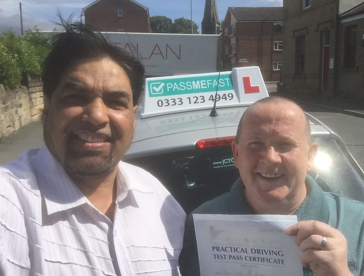 PassMeFast student Carl and instructor Shamsher