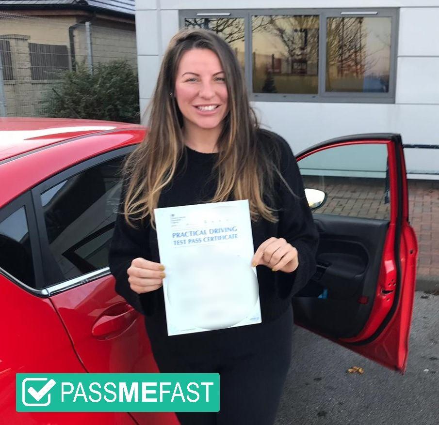 Pass photo of PassMeFast student Gemma