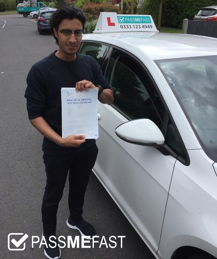 Pass photo of PassMeFast learner Hamza
