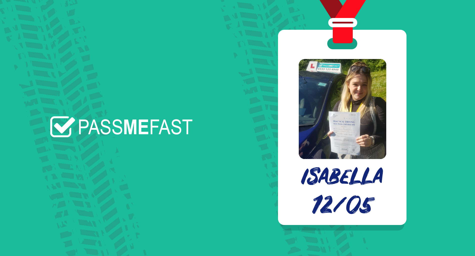 Pass photo of PassMeFast student Isabella