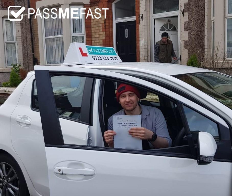 Pass photo of PassMeFast student Lewis