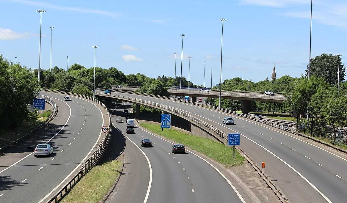 M8 motorway in Glasgow