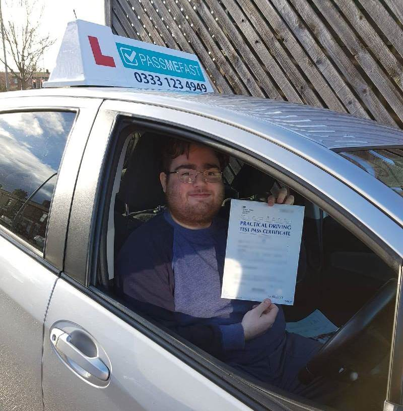 Pass photo of learner Neil