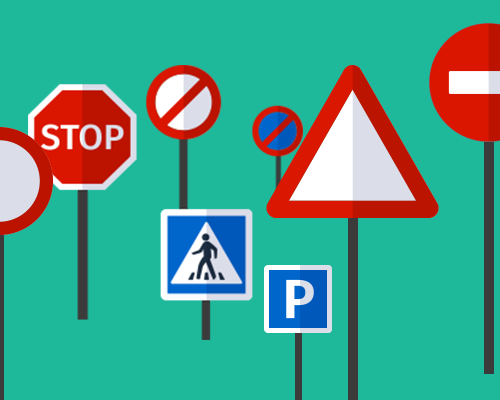 Traffic signs with warnings