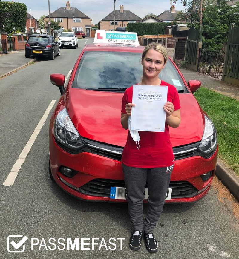 Pass photo of PassMeFast student Rebecca