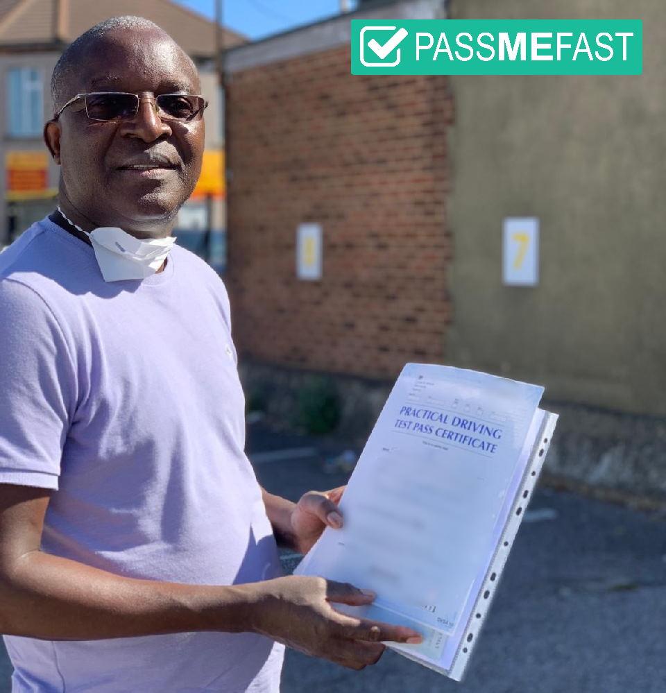 Pass photo of PassMeFast student Sackson