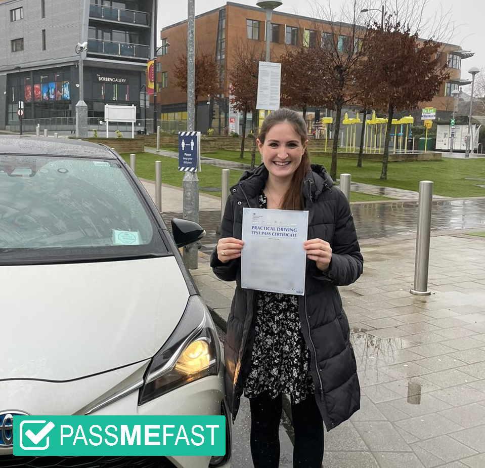 Pass photo of PassMeFast student Sinead