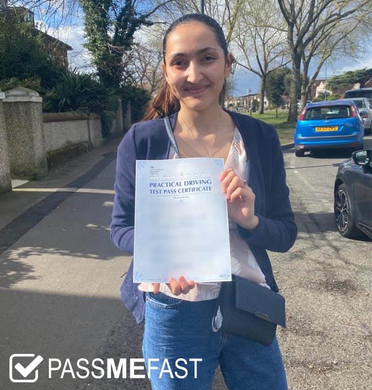 Pass photo of PassMeFast student Stephanie