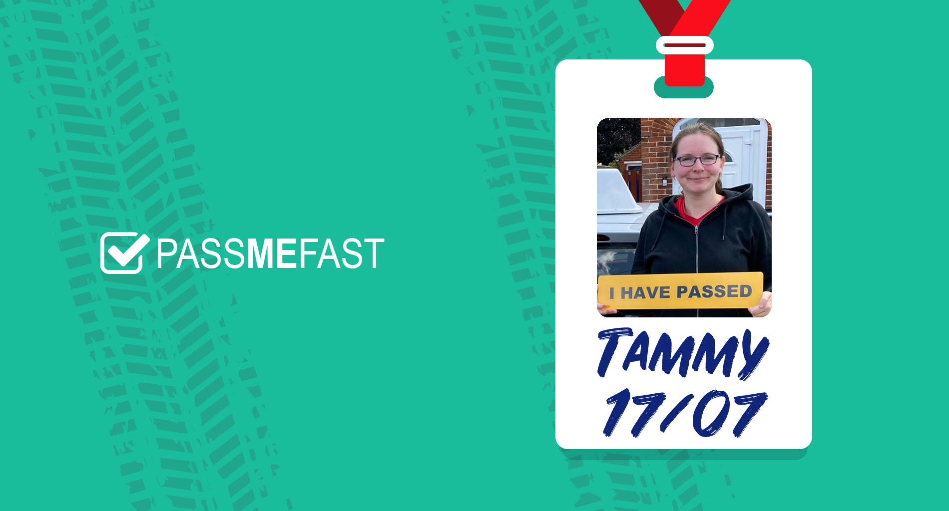 Pass photo of PassMeFast student Tammy in hall of fame frame