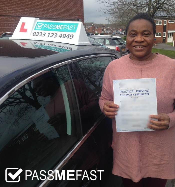 Pass photo of PassMeFast learner Theresa