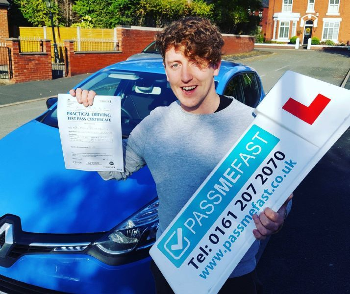 Aaron after having passed his driving test with PassMeFast