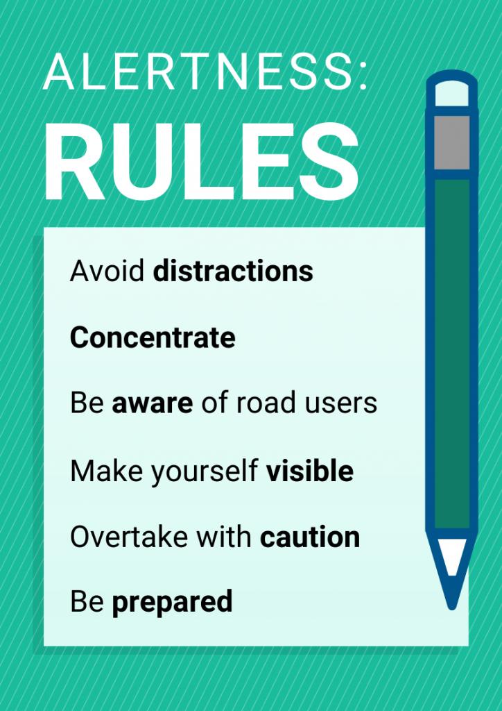Theory test alertness rules