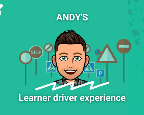 PassMeFast staff member Andy in learner driver experience frame