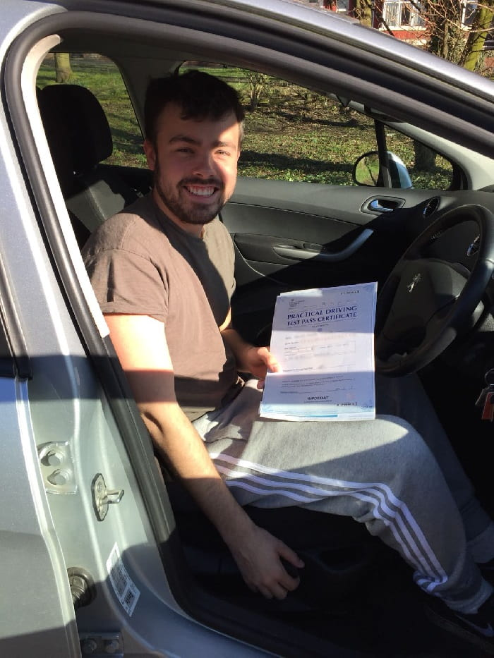 Bailey driving test pass photo