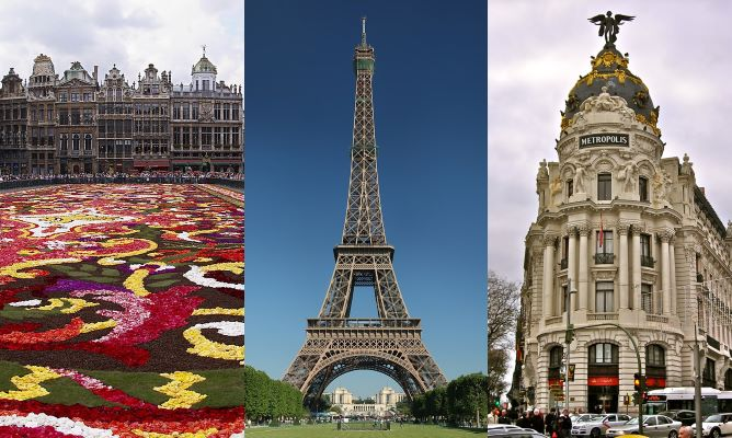 Brussels Paris and Madrid