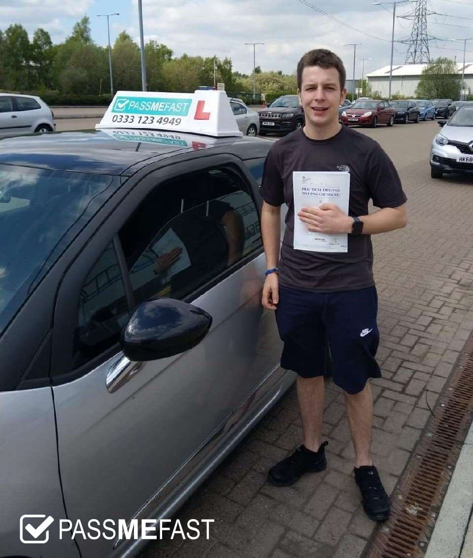 Pass photo of PassMeFast learner Callum