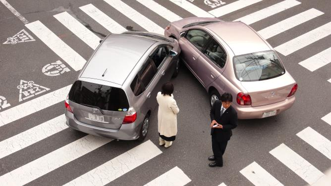A car accident in Japan
