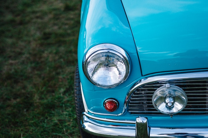 Car headlights and sidelights