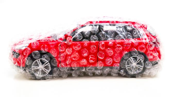 Car insurance bubble wrap