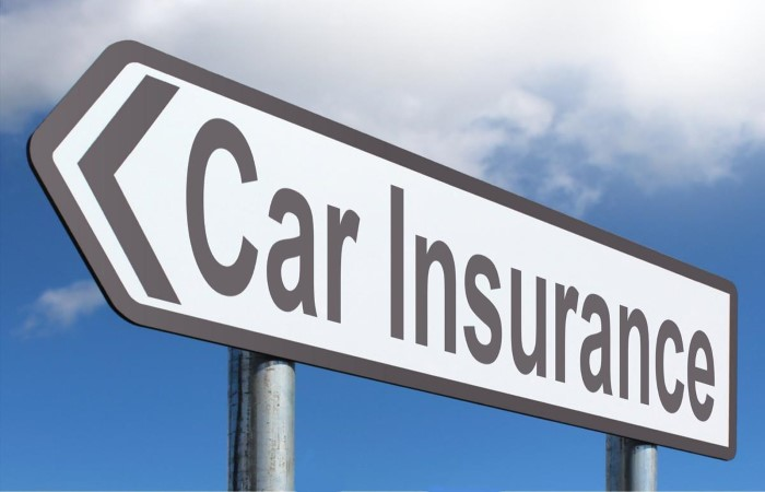 Car insurance road sign