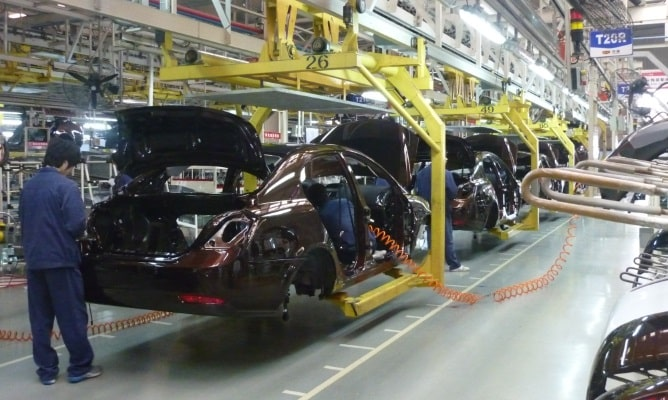Car manufacturing plant