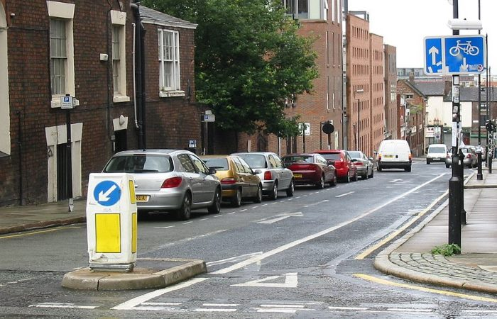 cycle contraflow in Liverpool