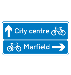 Cycle routes road sign