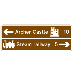 Directions to tourist attractions