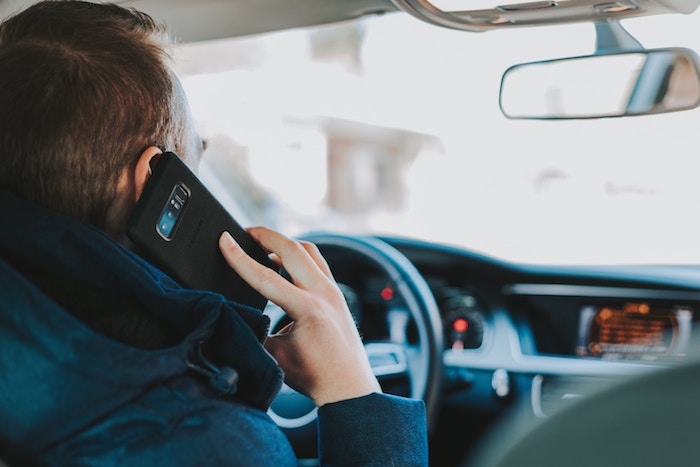 Driving while talking on the phone