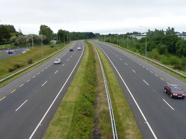 A dual carriageway in the UK