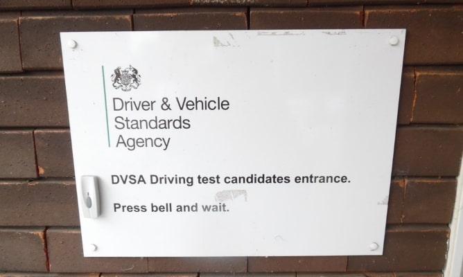 DVSA entrance sign