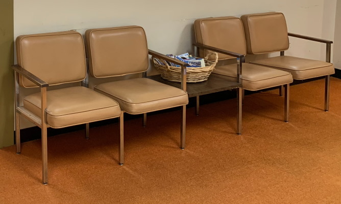 Empty chairs in a waiting room