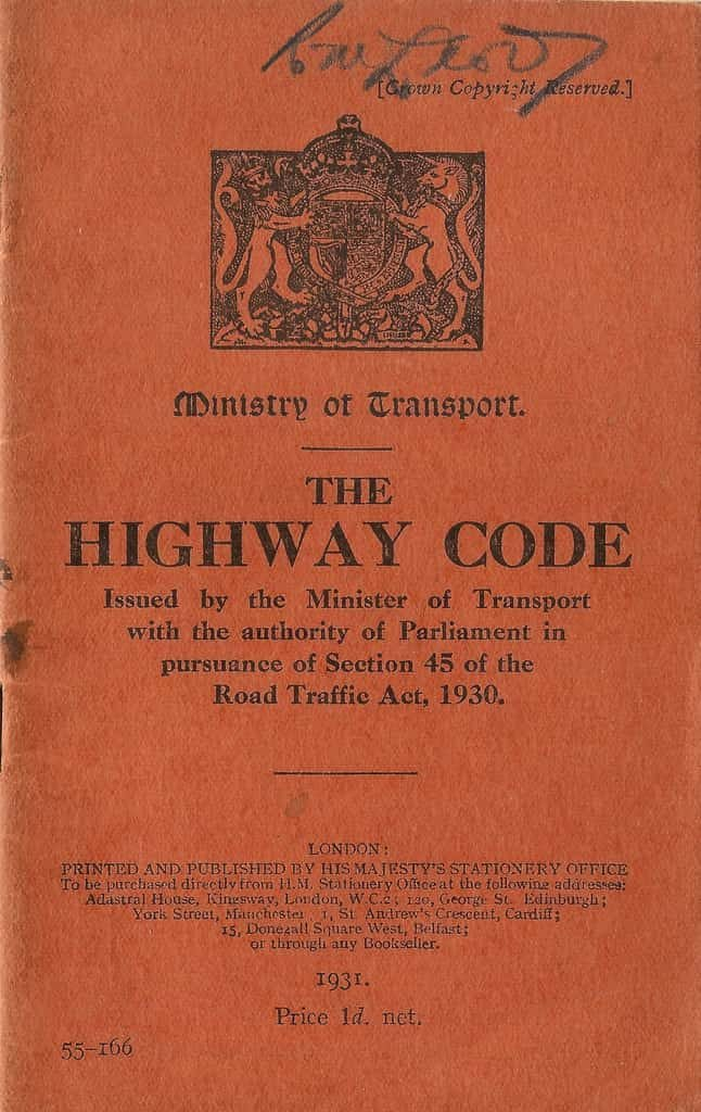 First edition of the Highway Code