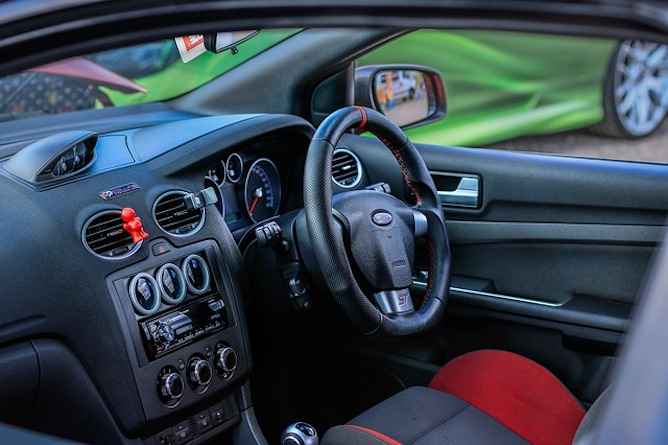 The interior of a Ford Focus