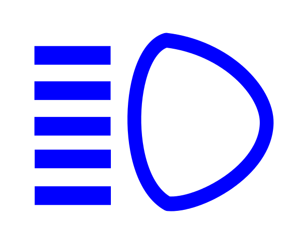 Full beam headlights symbol
