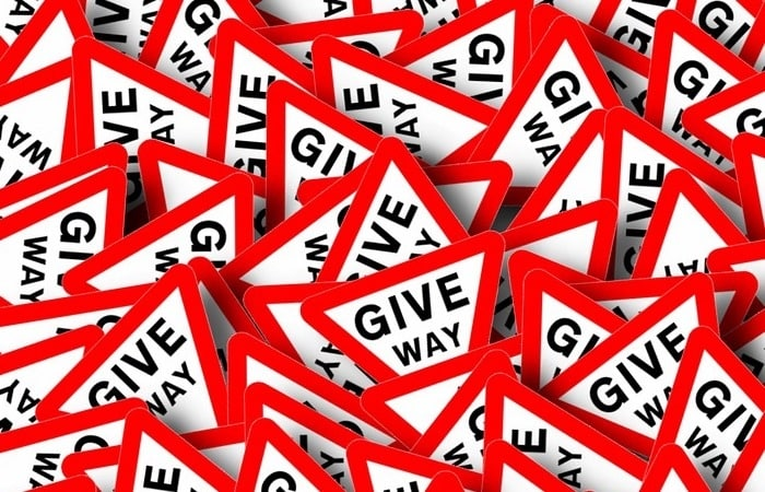 Give way signs