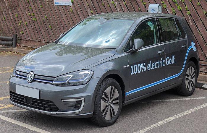Grey Volkswagen e-Golf