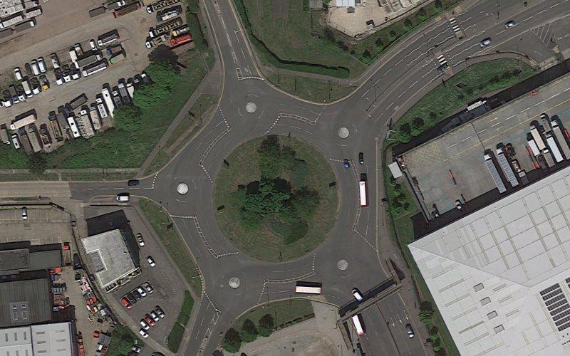 Hatton Cross magic roundabout