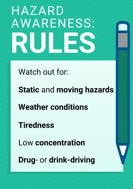 Hazard awareness rules