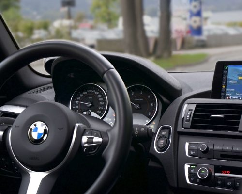 The inside of a BMW