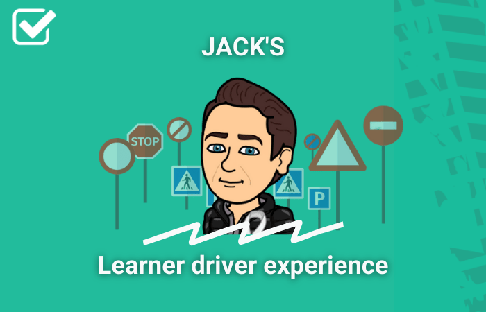 Cartoon of Booking Agent Jack in learner driver experience frame