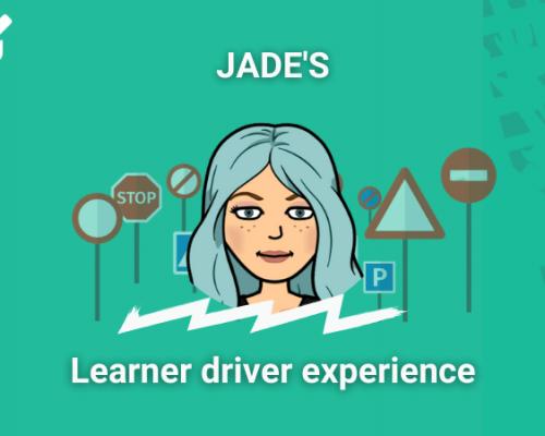 PassMeFast staff member Jade in learner driver experience frame