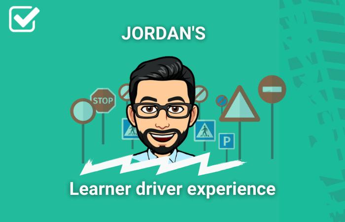 PassMeFast staff member Jordan in learner driver experience frame
