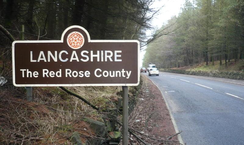Lancashire road sign